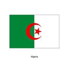 algeria flag algeria flag vector image