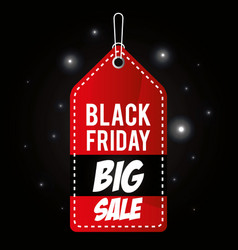black friday promotion label vector image vector image