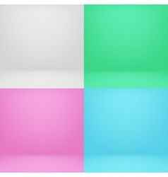 Empty white and color 3d studio room photo vector image vector image