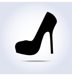 Lady shoe icon with shadow vector image