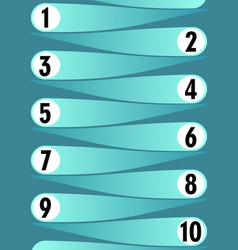 Template for working process in ten steps light vector