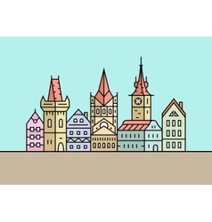 Four different cities and towns vector image