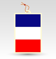 french flag made in tag vector image