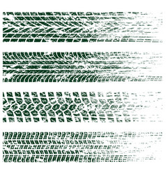 grunge tire tracks vector image