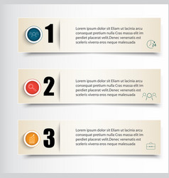 infographics set of three vector image