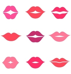 Set of women s lips icons isolated on white vector image