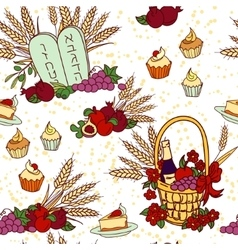 Shavuot seamless pattern background vector