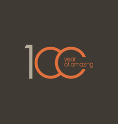 100 year amazing template design vector
