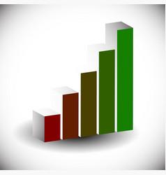 3d bar chart bar graph element editable graphics vector