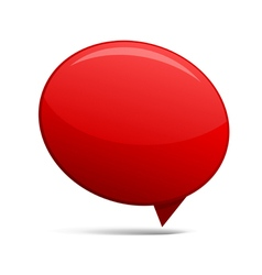 Abstract Red speech bubbles vector image vector image