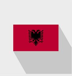 Albania flag long shadow design vector