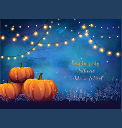 Autumn party poster vector