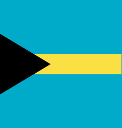 Bahamas national flag with official colors vector