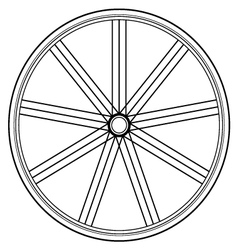 Bike wheel isolated on white vector