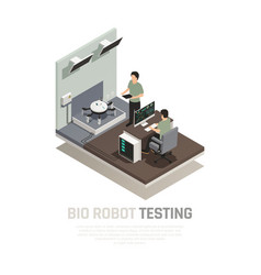Bio robot testing isometric composition vector