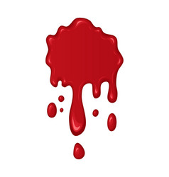 blood splash or drop vector image vector image