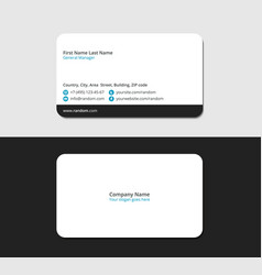 Business card for young and promising specialists vector