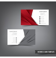 Business Card template set 027 red and grey layer vector image