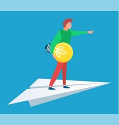 business idea man moving forward businessman vector image