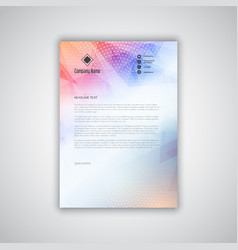 business letterhead with a low poly design vector image