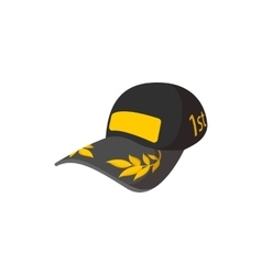 Car racer cap cartoon icon vector image