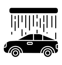 car wash icon black sign on vector image