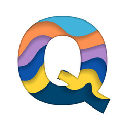 Colorful letter q vector