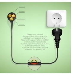 concept of clean energy vector image