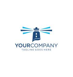 Creative mercusuar for logo design editable vector