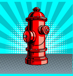 Fire hydrant pop art style vector