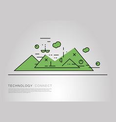 flat linear landscape vector image