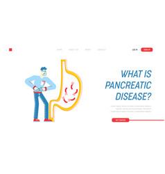 Gastroenterology landing page template patient vector