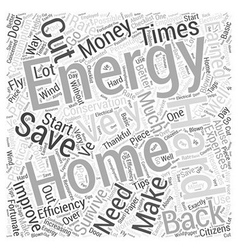 Home energy lll Word Cloud Concept vector image