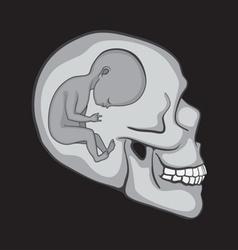 human skulls vector image