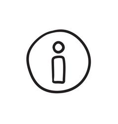 Information sign sketch icon vector