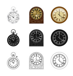 isolated object of clock and time symbol vector image