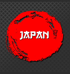japan red sign grunge stamp black vector image