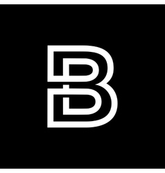 Letter B From the white interwoven strips vector