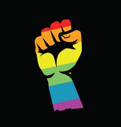 Lgbt pride symbol rainbow flag vector
