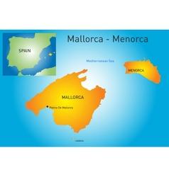 Mallorca-Menorca vector image vector image