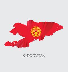 map kyrgyzstan vector image