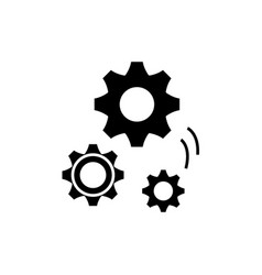 mechanical engineering black icon sign on vector image
