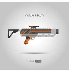 Missile Gun for virtual reality system vector