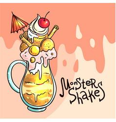 Monster shake vector