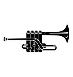 Music trumpet icon simple style vector