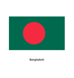 original and simple bangladesh flag vector image