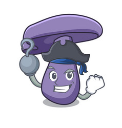 Pirate blewit mushroom character cartoon vector