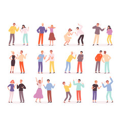 quarrel people unhappy conflict family bad vector image