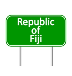 Republic of Fiji road sign vector image