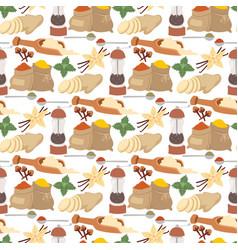 seasoning food herbs natural healthy spices vector image